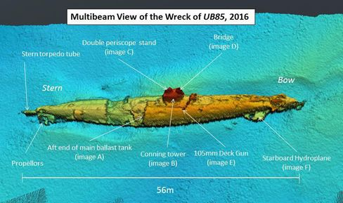 German WW1 submarine found off Scottish coast