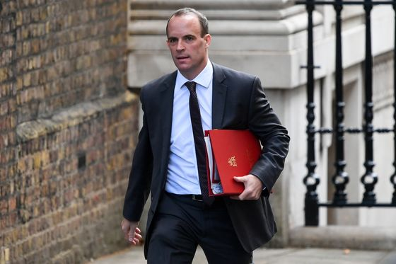 Brexit Deal in Balance as Raab's Dash to Brussels Falls Short