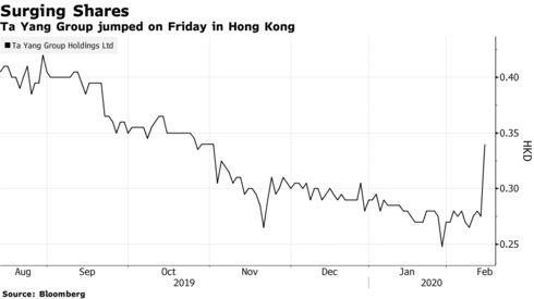 Ta Yang Group jumped on Friday in Hong Kong