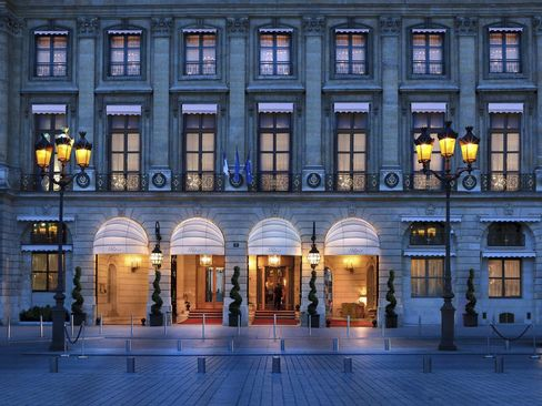 The exterior of the Ritz Paris.