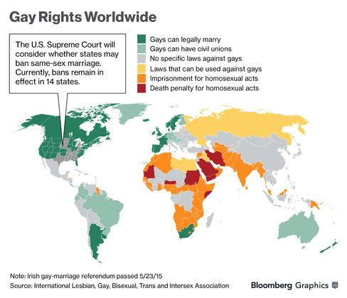 Graphic: Gay Rights Worldwide