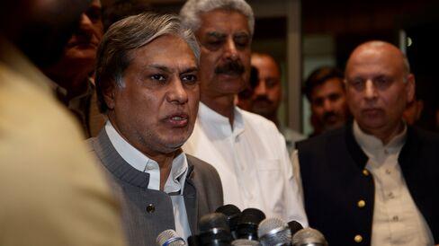 Pakistan's Finance Minister Ishaq Dar