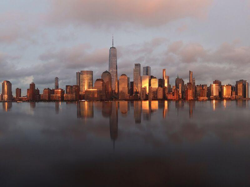 Sunset in New York City