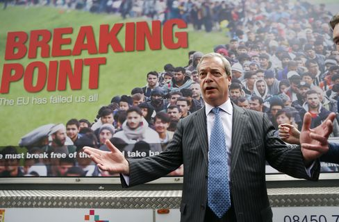 Nigel Farage launches a national poster campaign.