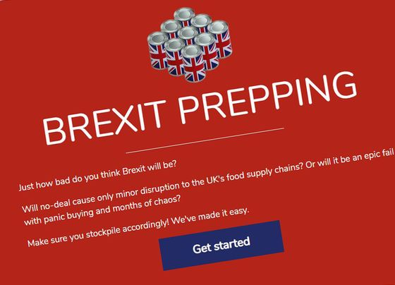 The Amazon for Brexit Helps Britons Stockpile in Four Clicks