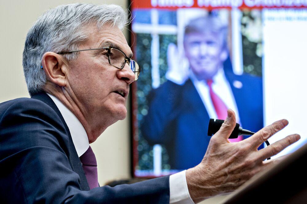 Jerome Powell speaks in Washington, D.C. on Feb. 11.
