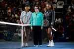Serena Williams of the United States, right,and Naomi Osaka of Japan, left.