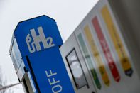 A hydrogen fuel pump in Sindelfingen, Germany.