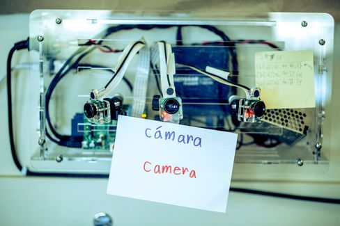 Custom-built cameras and microphones that record the school day.