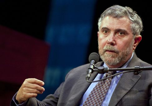 Krugman Says U.S., Europe Are 'Nowhere Close to Ending Crisis'