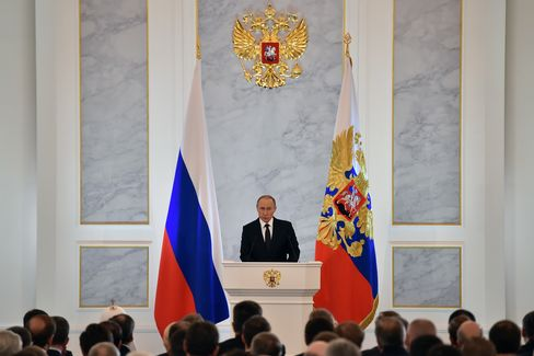 Vladimir Putin delivers his annual state-of-the-nation address