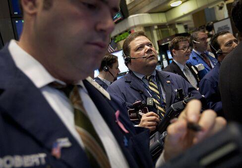 Biggest June Advance in Decade Pushes Stocks Past Bonds