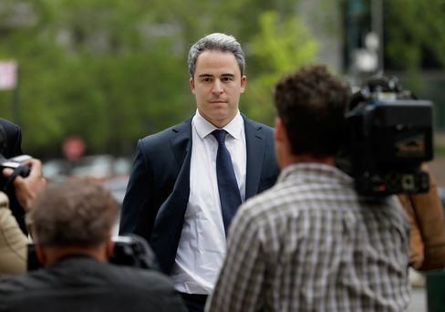 Michael Steinberg, a former fund manager with SAC Capital Advisors LP, arrives at federal court for a sentencing hearing in New York, on May 16, 2014.