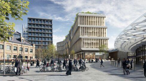 新社屋はキングス・クロス駅に隣接予定。建設・デザインチームには、ロンドンの2階建てバスのデザイン刷新に携わったトーマス・ヘザーウィック氏も含まれる