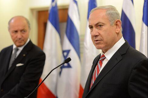 Benjamin Netanyahu And Laurent Fabius