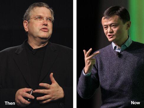 L-R: Carl Yankowski, 2001; Jack Ma, 2015
