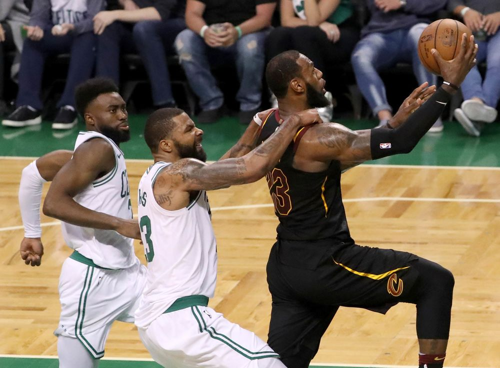 fb667086411 LeBron James drives to the hoop in the fourth quarter during Game Seven of  their NBA