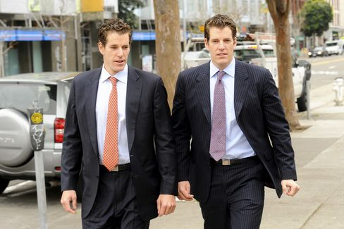 Math-Based Asset Services' Cameron and Tyler Winklevoss