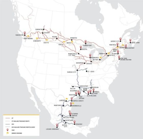 Kansas City Southern Mulls $27 Billion CP Rail Bid After Ruling