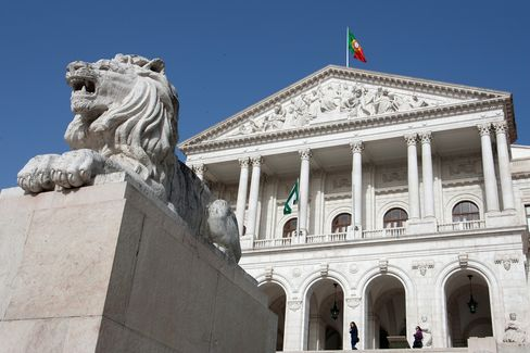 Portugal Leads Decline in European Credit Risk on Bailout