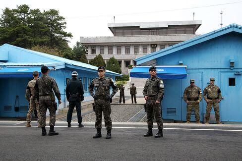 韓国と北朝鮮の軍事境界線を挟み設置されている非武装地帯