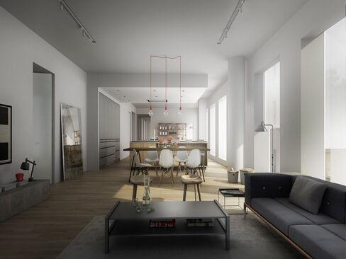 A penthouse apartment at1 John St.