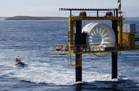 Puget Sound Becomes Hot Spot as Ocean Turbine, Data Line Clash