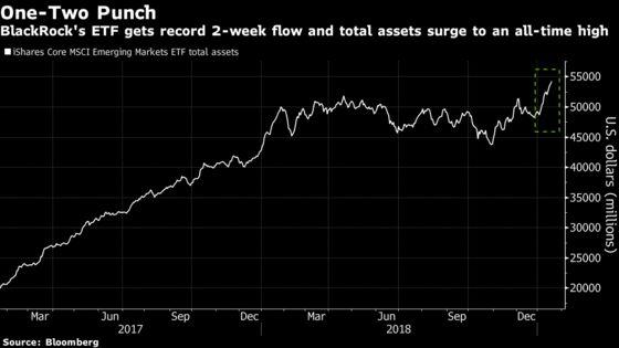 Emerging-Market ETF Gets Record $2 Billion Amid Stocks Bonanza