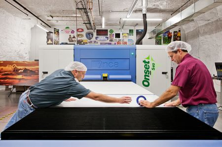 Vanguard Packaging prints retail packaging and supermarket displays in its 500,000-square-foot space.