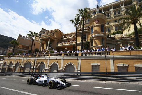 Felipe Massa of Brazil and Williams drives during the Monaco Formula One Grand Prix at Circuit de Monaco during the race last year. The Monaco race is a crowd favorite because it's so easy to see from many plazas,homes, hotels, and restaurants in the city.