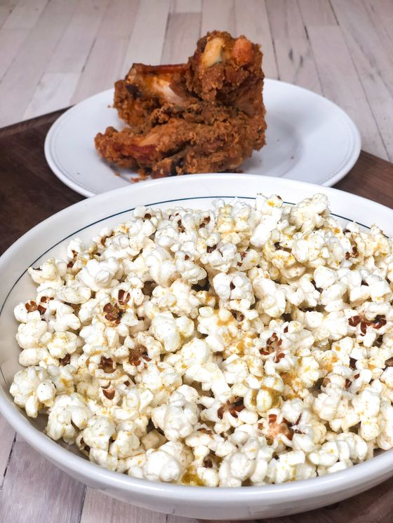 Fried Chicken Meets Popcorn in a Snackable Cure for The Football Blues