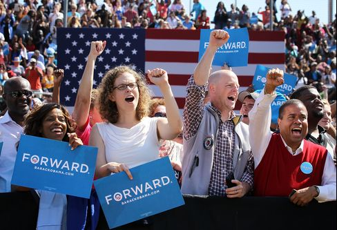 Obama Seeks to Rally Virginia Base as Romney Builds Ground Game