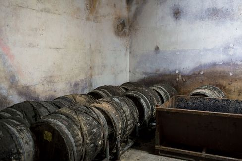 The wine is stored in ancient casks or by the case.