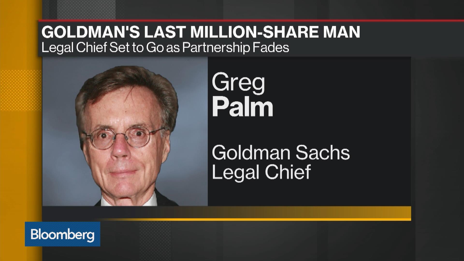 Goldman's $500 Million Lawyer Greg Palm Is Ready to Call It