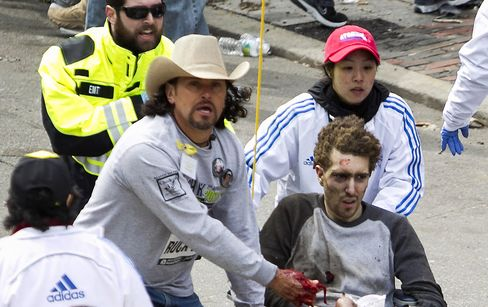 Boston Bombing Victim in Iconic Photo Helped Identify Attackers