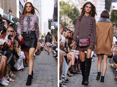 Models wearing Rebecca Minkoff Fall/Winter '16 during the designers New York Fashion week show.