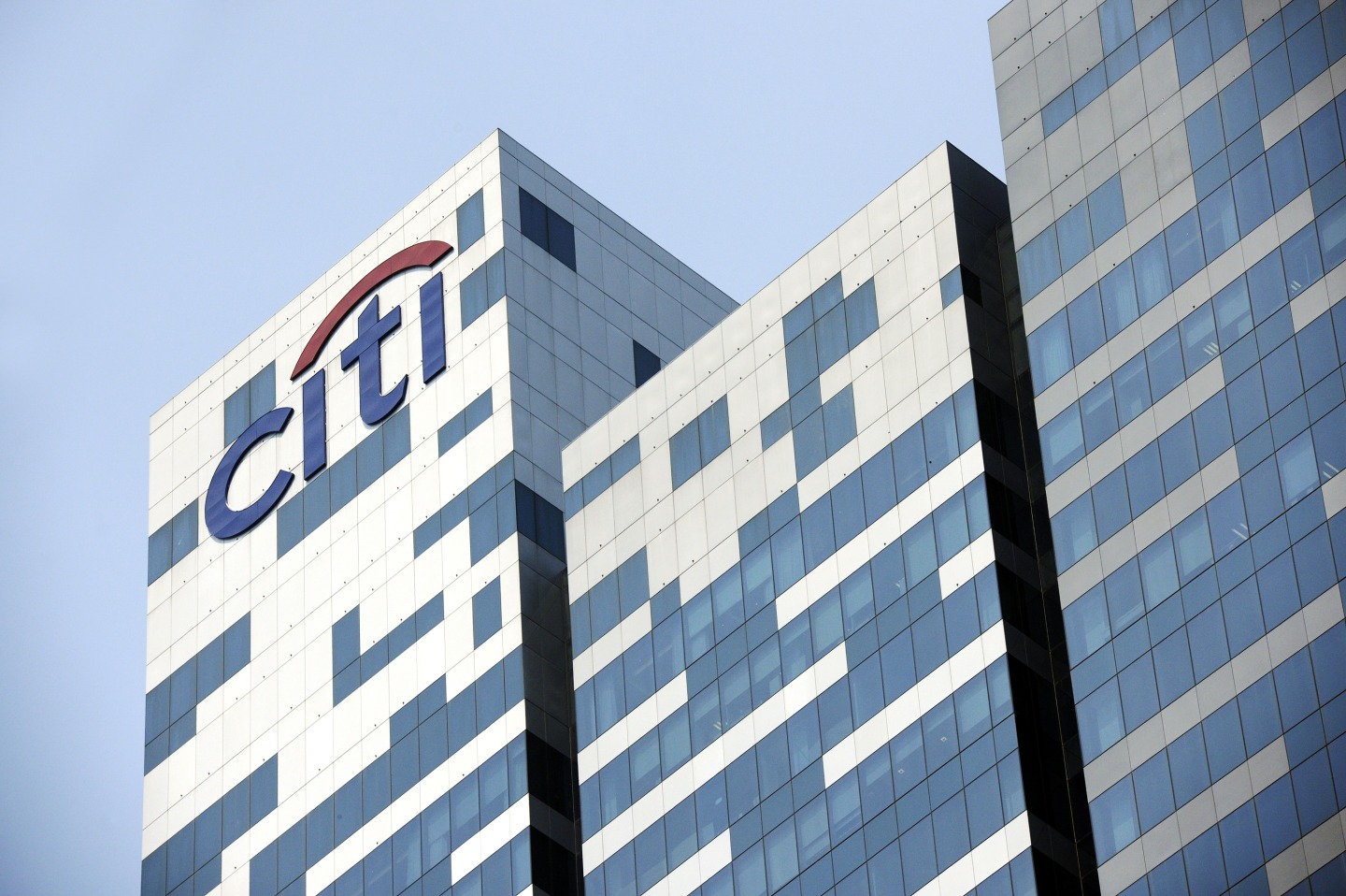 The Citigroup Inc. logo is displayed atop Tower 1 of Asia Square in Singapore.
