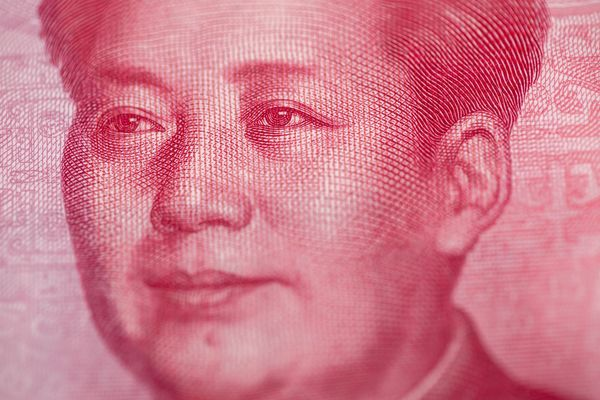 Hong Kong Dollar, Chinese Yuan and US Dollar Banknotes As Currency Peg Intervention From HKMA Continues Into Third Day