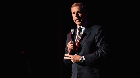 NBC News Anchor Brian Williams speaks onstage at 2014 Stand Up For Heroes at Madison Square Garden at Madison Square Garden on November 5, 2014 in New York City.
