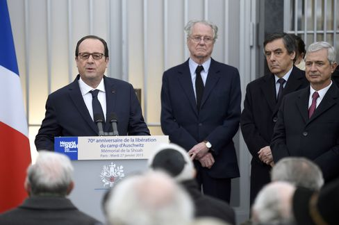French President Francois Hollande Speaks at Holocaust Memorial