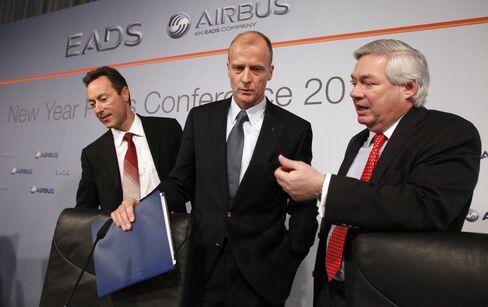 John Leahy, Fabrice Bregie and Tom Enders