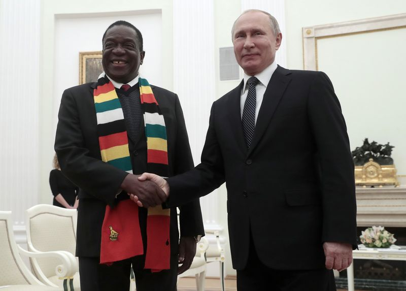 Emmerson Mnangagwa meets Vladimiri Putin in Jan.