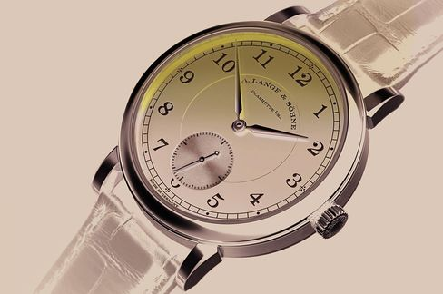 The black dial on this A. Lange & Söhne 1815 is just stunning.