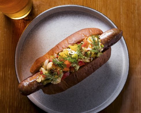 If hot dogs are more your speed, Salvation Burger's giardinera-covered dog is a gem.
