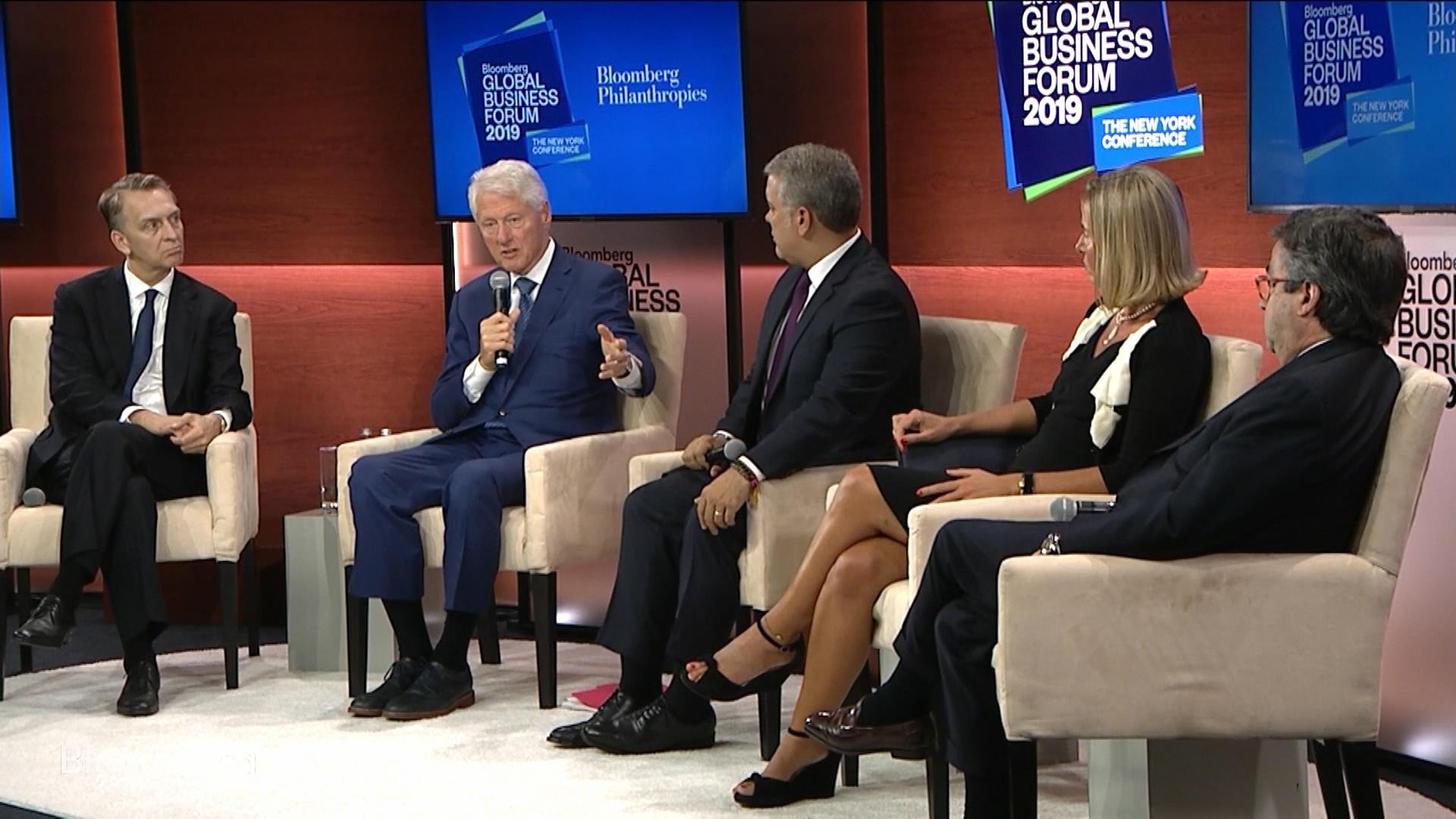 Clinton, Duque, Mogherini at GBF 2019