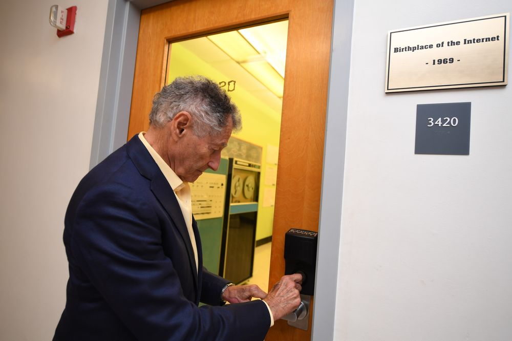 Leonard Kleinrock and the room where it happened.