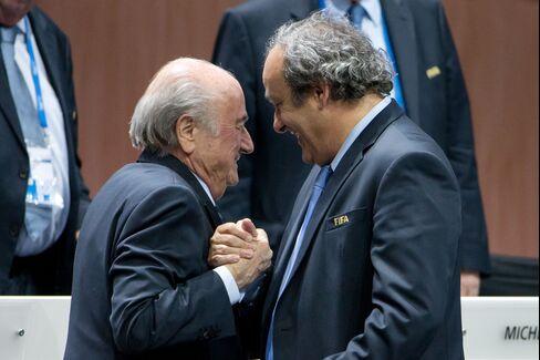 Sepp Blatter And Michel Platini