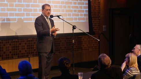 Anti-tax activist Grover Norquist performs at the Funniest Celebrity in Washington on Dec. 3, 2014.