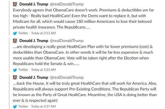 Trump Obamacare RetreatExposes 2020 Weakness
