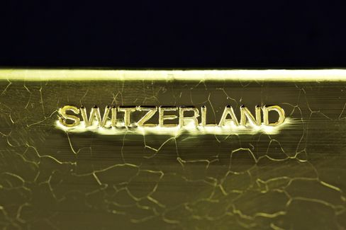 A Stamped Bar Of Swiss Gold